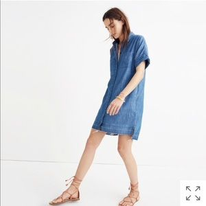 Madewell Denim Drop Hem Dress